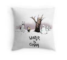 Jon and Ghost (color) Throw Pillow