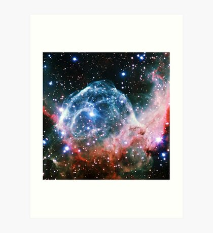 Thor's Head Nebula [Blue Red] | Infinity Symbol | Fresh Universe Art Print