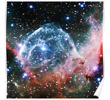 Thor's Head Nebula [Blue Red] | Infinity Symbol | Fresh Universe Poster