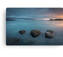 4 Rocks and a Lake Canvas Print