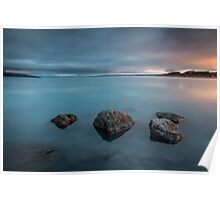 4 Rocks and a Lake Poster