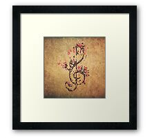 Cherry Clef Framed Print