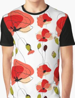 Red Poppy field Graphic T-Shirt