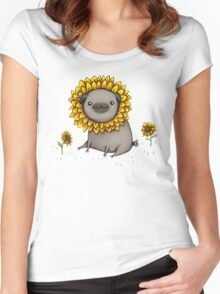 Pugflower Women's Fitted Scoop T-Shirt