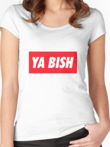 Ya Bish Typography Women's Fitted Scoop T-Shirt