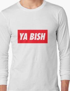 Ya Bish Typography Long Sleeve T-Shirt