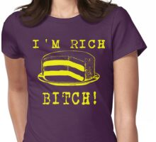 I'm Rich Bitch - yellow Womens Fitted T-Shirt