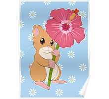 Hamster Hibiscus Poster