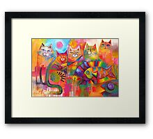 Cats & Fish  Framed Print