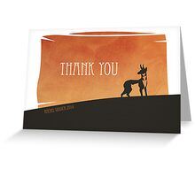 Thank You Card - Pronghorn Sunset Greeting Card