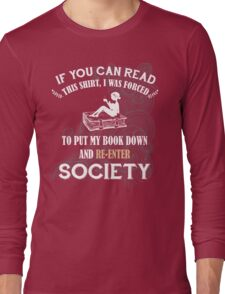 BOOK - SOCIETY Long Sleeve T-Shirt