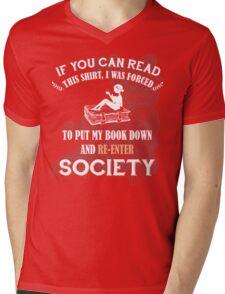 BOOK - SOCIETY Mens V-Neck T-Shirt