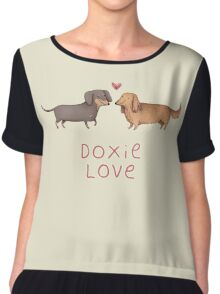 Doxie Love Chiffon Top