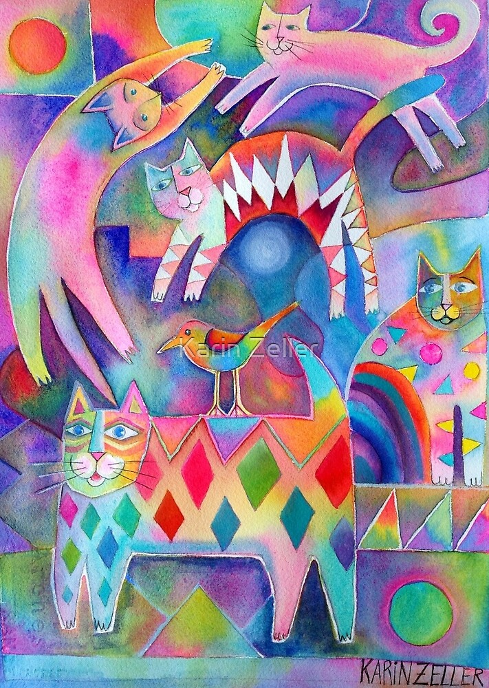 Happy cats by Karin Zeller