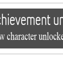 achievement unlocked New Character Unlocked Sticker
