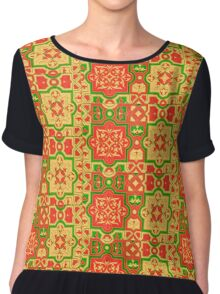 art-nouveau motifs in warm colors Chiffon Top