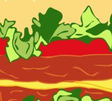 hamburger and magical stuff Sticker
