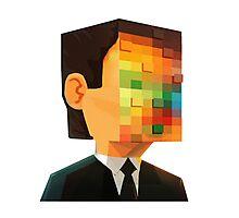 pixel head Photographic Print
