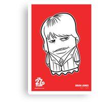 27 Club Brian Jones Poster Canvas Print