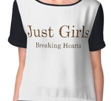 Just Girls, Breaking Hearts Chiffon Top