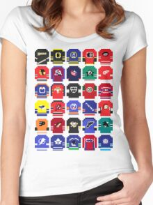 8-Bit Hockey Jerseys Women's Fitted Scoop T-Shirt