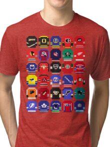 8-Bit Hockey Jerseys Tri-blend T-Shirt