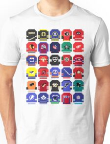 8-Bit Hockey Jerseys Unisex T-Shirt