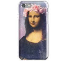 Mona Lisa Flower Crown iPhone Case/Skin