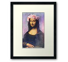 Mona Lisa Flower Crown Framed Print