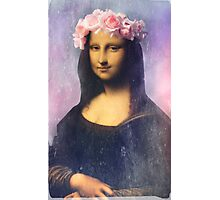 Mona Lisa Flower Crown Photographic Print