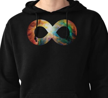 Heart of Orion Nebula   Infinity Symbol   Fresh Universe Pullover Hoodie