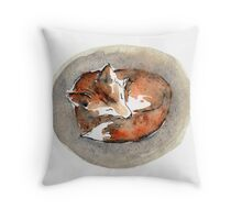 Resting Fox Throw Pillow