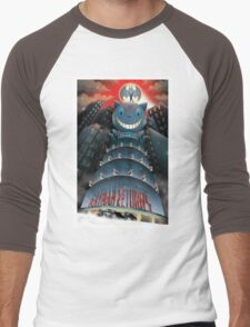 The Bat, The Cat, The Penguin Men's Baseball ¾ T-Shirt