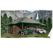 1930 Gas Station YOSEMITE-NATIONAL-PARK-USA Poster