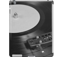 Vinyl Record Playing on a Turntable Overview iPad Case/Skin