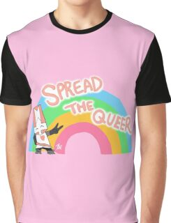 Pink Knight 'Spread The Queer' Castle Crashers Fanart Graphic T-Shirt