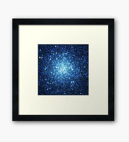 Blue Star Cluster   Infinity Symbol   Fresh Universe Framed Print