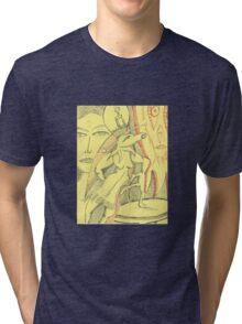 against the wind  Tri-blend T-Shirt