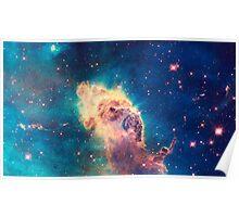 Carina Nebula: Head of Clouds | Infinity Symbol | Fresh Universe Poster