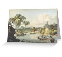 Chinese Day On The Water Greeting Card
