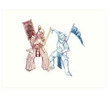 Samurai & Chevalier Art Print