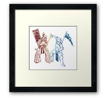 Samurai & Chevalier Framed Print