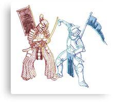 Samurai & Chevalier Canvas Print