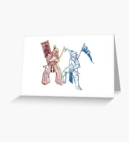 Samurai & Chevalier Greeting Card