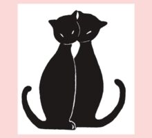 two black cats Kids Tee