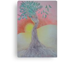 Tree of Woman, African landscape Canvas Print