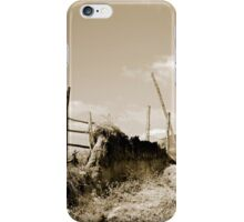Broken Fence in a Farmer's Pasture iPhone Case/Skin