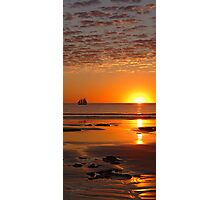 Sunset Sailing on Cable Beach, Broome, Western Australia Photographic Print