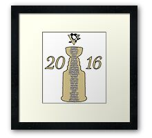 Pittsburgh Penguins Stanley Cup Champs 2016 Framed Print