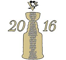 Pittsburgh Penguins Stanley Cup Champs 2016 Photographic Print